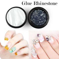 Professional Nail Glue Rhinestone UV Gel Super Sticky Builder Gel Nails Decoration Tools