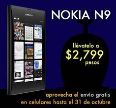 Nokia N9 a $2799 pesos