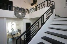 Image result for guarda corpo de ferro para escadas