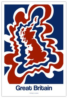 Great Britain Map Poster