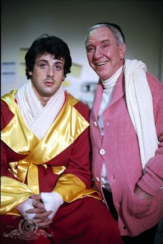 Still of Sylvester Stallone and Burgess Meredith in Rocky