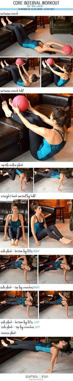 Ejercicios para fortalecer el core. #workout #hiit
