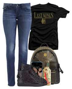 """""""Untitled #176"""" by polyvoreitems5 ❤ liked on Polyvore featuring Royalty Collection, True Religion, MCM and Christian Louboutin"""