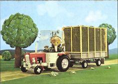 sandmännchen ddr | ... Postkarte Unser Sandmännchen, Sandmann, DDR Kinderfernsehen, Traktor