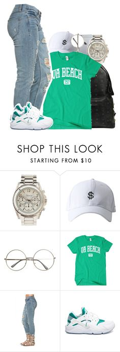 """""""Fetty Wap ft Monty - Instant Friend"""" by tanishacain ❤ liked on Polyvore featuring Charlotte Russe, MCM and NIKE"""