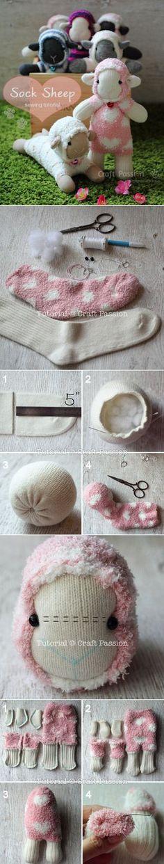 Schäfchen aus Socken
