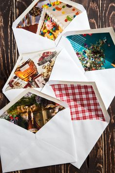 We're getting crafty today with some super easy, festive and up-cycled DIY lined envelopes. These envelopes are a cute and simple way to jazz up your holiday cards. Every year, we send out a photo card, usually of the kiddos, unless we're feeling extra cute and then my husband and I will sometimes jump in …