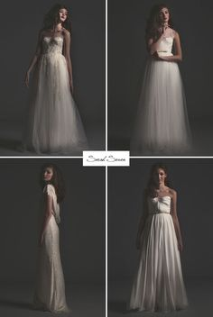 sarah seven gold label collection - I. Top left or top right for meee! Cat Wedding, Dream Wedding, Wedding Wishes, Wedding Bells, Bridal Gowns, Wedding Gowns, Types Of Gowns, Sarah Seven, Traditional Gowns