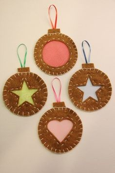 Stained Glass Cookie Ornaments Tutorial...so cute, uses felt to make them look like the cookies