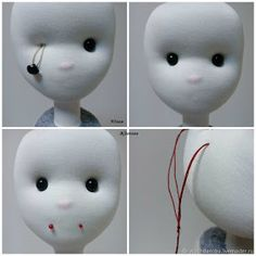 doll making When a Doll Is Made on Your Own: Step-by-Step Guide - : DIY Projects Doll Patterns Free, Doll Clothes Patterns, Doll Eyes, Doll Face, Doll Crafts, Diy Doll, Doll Making Tutorials, Sewing Dolls, Doll Tutorial