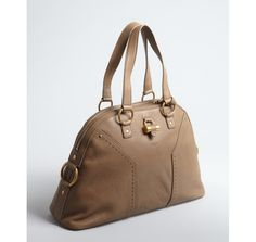 Yves Saint Laurent, Muse large tote, Brown