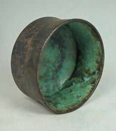 Stoneware - Large malachite rice bowl - Olia Lamar