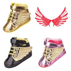 Infant Toddler Baby Boy Girl Wing Crib Shoes Sneakers Size Newborn to 18 Months #CribShoes