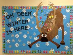 December - Winter bulletin board. Oh 'Deer' Winter Is Here! Frozen's Sven