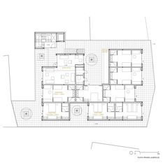 Bela Muxía Hostel Extension,First Floor Plan