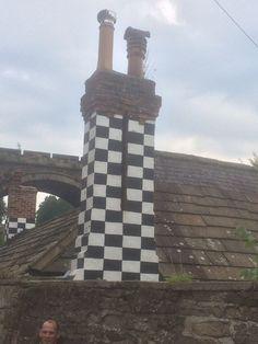 Checkerboard chimney!