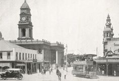 Gardiner Street, Durban. ca. 1920 Kwazulu Natal, African History, Back In The Day, Good Old, East Coast, South Africa, Photos, Pictures, Street