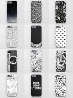 Society6 Black & White Phone Cases - Society6 is home to hundreds of thousands of artists from around the globe, uploading and selling their original works as 30+ premium consumer goods from Art Prints to Throw Blankets. They create, we produce and fulfill, and every purchase pays an artist.