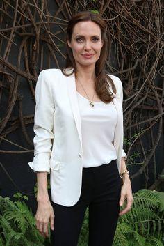 Angelina Jolie - Unbroken press conference portraits by Munawar Hosain (Universal City, July 29, 2014)