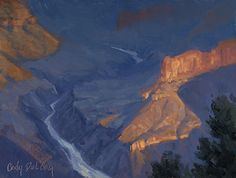 Around the Bend, Grand Canyon by Cody DeLong  ~ 9 x 12 - oil