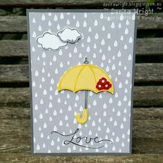Denita Wright - Independent Stampin' Up! Demonstrator: 'Random Act of Kindness'… Weather Cards, Umbrella Cards, Kit Bebe, Bridal Shower Cards, Stampin Up Catalog, Get Well Cards, Sympathy Cards, Card Tags, Greeting Cards Handmade