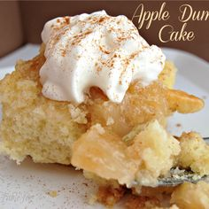 Mom's Apple Cake {Apple Dump Cake} Recipe
