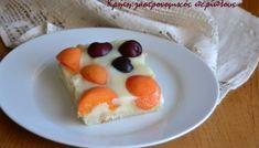 Τούρτα φράουλα με κρέμα γιαουρτιού - cretangastronomy.gr Dessert Recipes, Desserts, Food And Drink, Pudding, Tasty, Snacks, Breakfast, Cakes, Tailgate Desserts