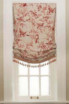 Window treatment, Roman shade, relaxed Roman shade, shades, London shade, tassels, curtain drapes,