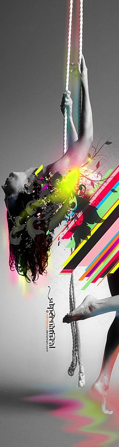 Creative Graphics used in this image great use of colour.