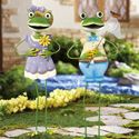 """Shop And Save Deals ! Your one stop online shopping center!Froggy Couple Garden Stakes These friendly frog garden stakes are hand-painted and will make the perfect addition to your yard. Iron. Each approx. 28""""H. Sold individually. Specify: Boy or Girl.$14.99 Sale $5.97"""