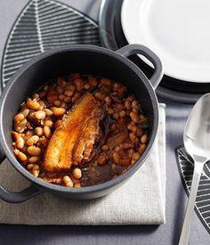 Australian Gourmet Traveller Italian winter main course recipe for pork and white beans Pork Recipes, Gourmet Recipes, Cooking Recipes, Recipies, Chicken Liver Terrine, Chicken Crepes, White Bean Recipes, Recipe Search, White Beans
