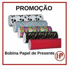 Bobinas papel de presente. Várias estampas. Hp Plásticos - Soluções para seu dia a dia.  #hpplasticos  #embalagens #utilidades Avenida Maringá, 283 (43)3376-6776. Londrina