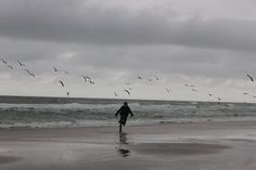 running on the beach and scarying up all the birds. Aesthetic Art, Aesthetic Pictures, Fantasy Landscape, Film Photography, Dreamy Photography, Aesthetic Wallpapers, Beautiful Places, Nostalgia, Scenery