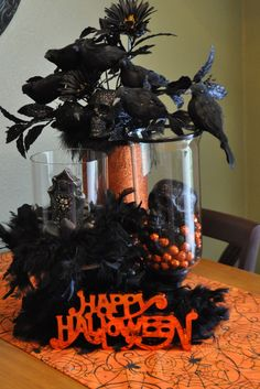 TABLE SCAPE idea...here it is July and I'm thinking Halloween already!
