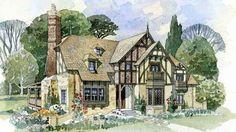 Weobley Cottage Front Color Rendering