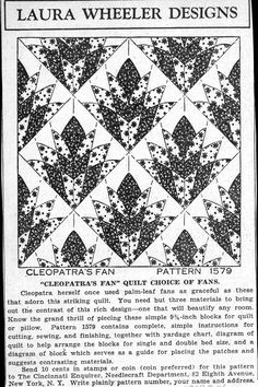 The Quilt Index, Cleopatra's Fan