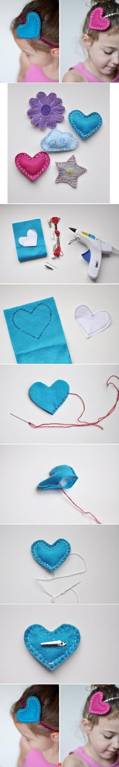 Super cute headband and something she could make with supervision!