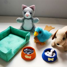 Felt Patterns - Felt Pet Shop Patterns and Tutorials