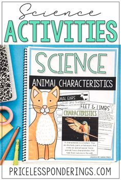Take the stress out of planning your science class with these animal characteristics worksheets! Your elementary students will love these low-prep activities. Fourth Grade Science, Elementary Science, Science Resources, Science Activities, Surviving In The Wild, Interactive Notebooks, Lesson Plans, Worksheets, Kindergarten