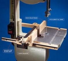 Bandsaw Fence: Our fence shines where commercial models fall short.