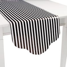 "Black Reversible (Stripes and Polka Dots) Table Runner 90"" x 17"" $3.50 - OrientalTrading.com"