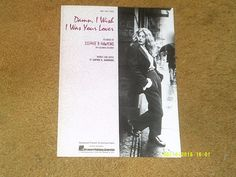 Sophie B. Hawkins sheet music Damn, I Wish I Was Your Lover 1992 9 pages (NM) - http://musical-instruments.goshoppins.com/sheet-music-song-books/sophie-b-hawkins-sheet-music-damn-i-wish-i-was-your-lover-1992-9-pages-nm/