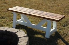 Fire Pit Benches | Do It Yourself Home Projects from Ana White
