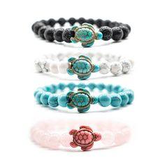Sea Turtle Tracking Bracelets – Ocean & Company Black Bracelets, Beaded Bracelets, Ankle Bracelets, Tracking Bracelet, Sea Turtle Bracelet, Thing 1, Ceramic Beads, Stone Bracelet, Diy Bracelet