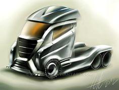 Big truck concept sketching by koleos33.deviantart.com on @DeviantArt