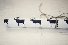 4 sheets Reindeer Wrapping Paper by StrandRedesign on Etsy