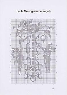 "Photo from album ""алфавит"" on Yandex. Monogram Cross Stitch, Cross Stitch Alphabet, Cross Stitch Samplers, Counted Cross Stitch Patterns, Cross Stitch Charts, Cross Stitching, Blackwork Embroidery, Embroidery Alphabet, Embroidery Monogram"