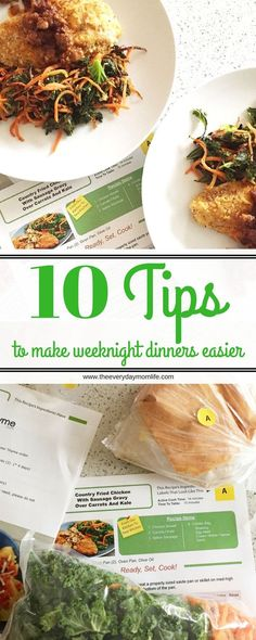 10 Tips To Make Weeknight Dinners Easier. Busy, working mom or dad? Have trouble getting a good meal on the table during the work week? Try these tips for weeknight dinner success. {AD}