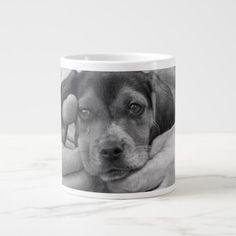 My Buddy Beagle Puppy Large Coffee Mug - dog puppy dogs doggy pup hound love pet best friend