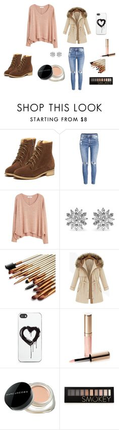 """""""Winter Wonderland"""" by grngrl03 on Polyvore featuring interior, interiors, interior design, home, home decor, interior decorating, WithChic, H&M, MANGO and Kenneth Jay Lane"""